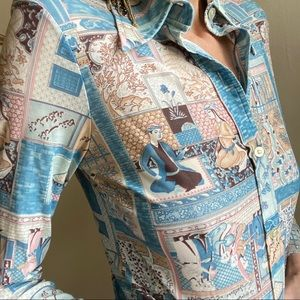 Vintage 70s polyester blouse
